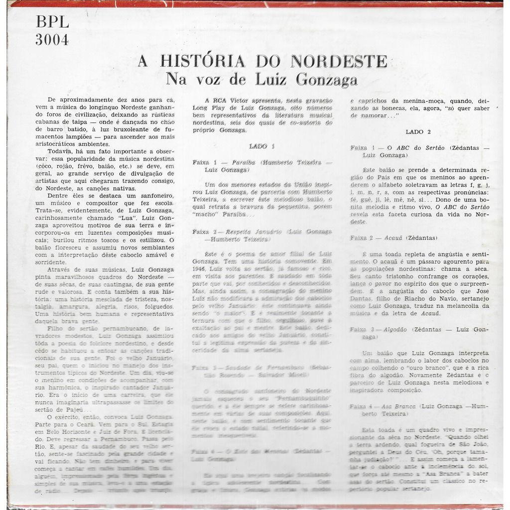 Luiz GONZAGA A Historia do Nordeste