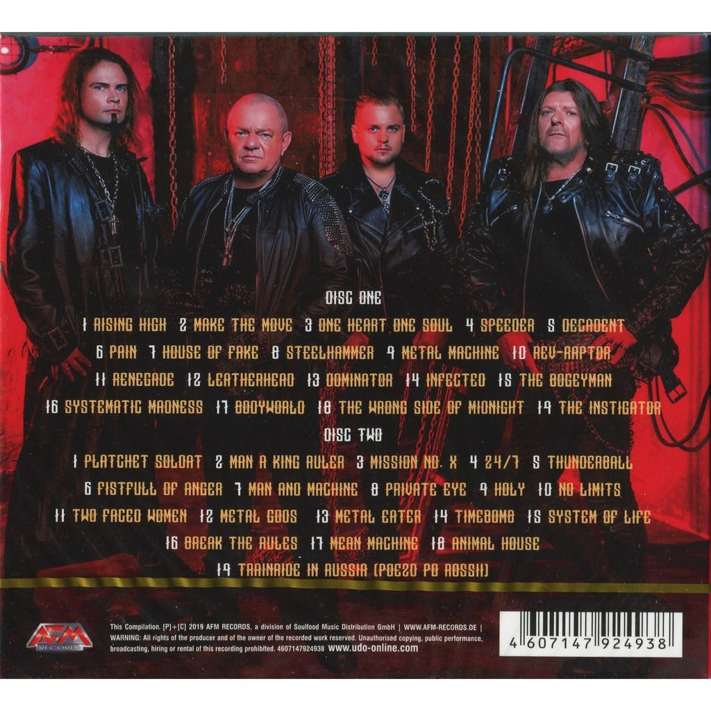 U.D.O. (UDO) Greatest Hits (2019 - New Edition) 2CD Digipak / New and Factory-Sealed