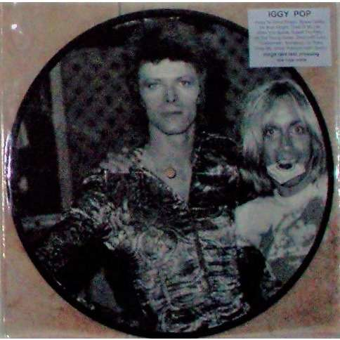 iggy pop Music By David Bowie (Euro Ltd 1 copy only TEST PRESS 10-trk live LP Picture Disc stickered PVC slv)