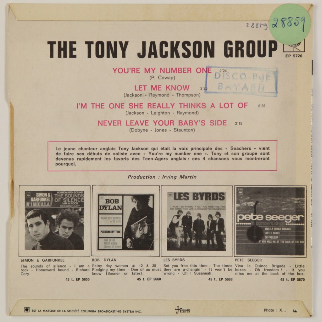 Tony Jackson Group You're My Number One +3 (Freakbeat)