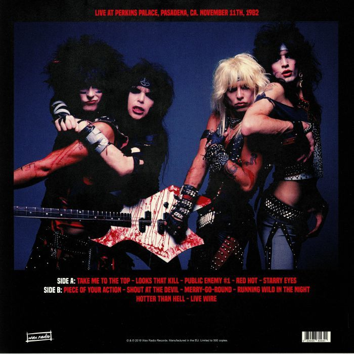 Mötley Crüe Looks That Kill: The Perkins Palace - FM Broadcast (lp)