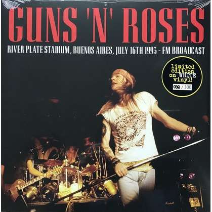 Guns N' Roses river plate stadium buenos aires july 16th 1993: fm broadcast