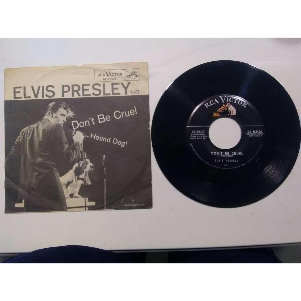 elvis presley 001 black label 45 USA 1956 RCA 47-6604 don't be cruel