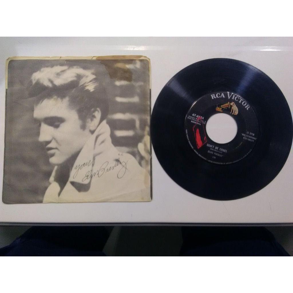 elvis presley 001 black label 45 USA 1956 RCA 47-6604 hound dog