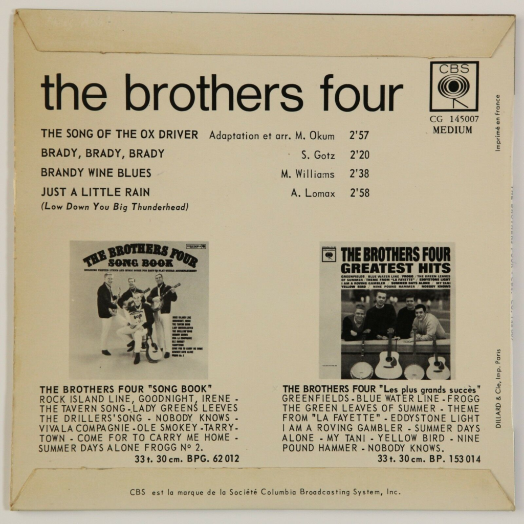 The Brothers Four The Song Of The Ox Driver +3