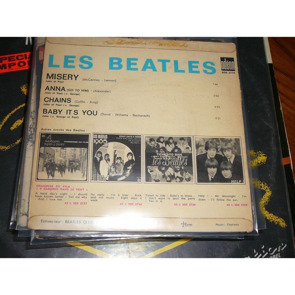 the beatles Misery/Anna/Chains/Baby it's you