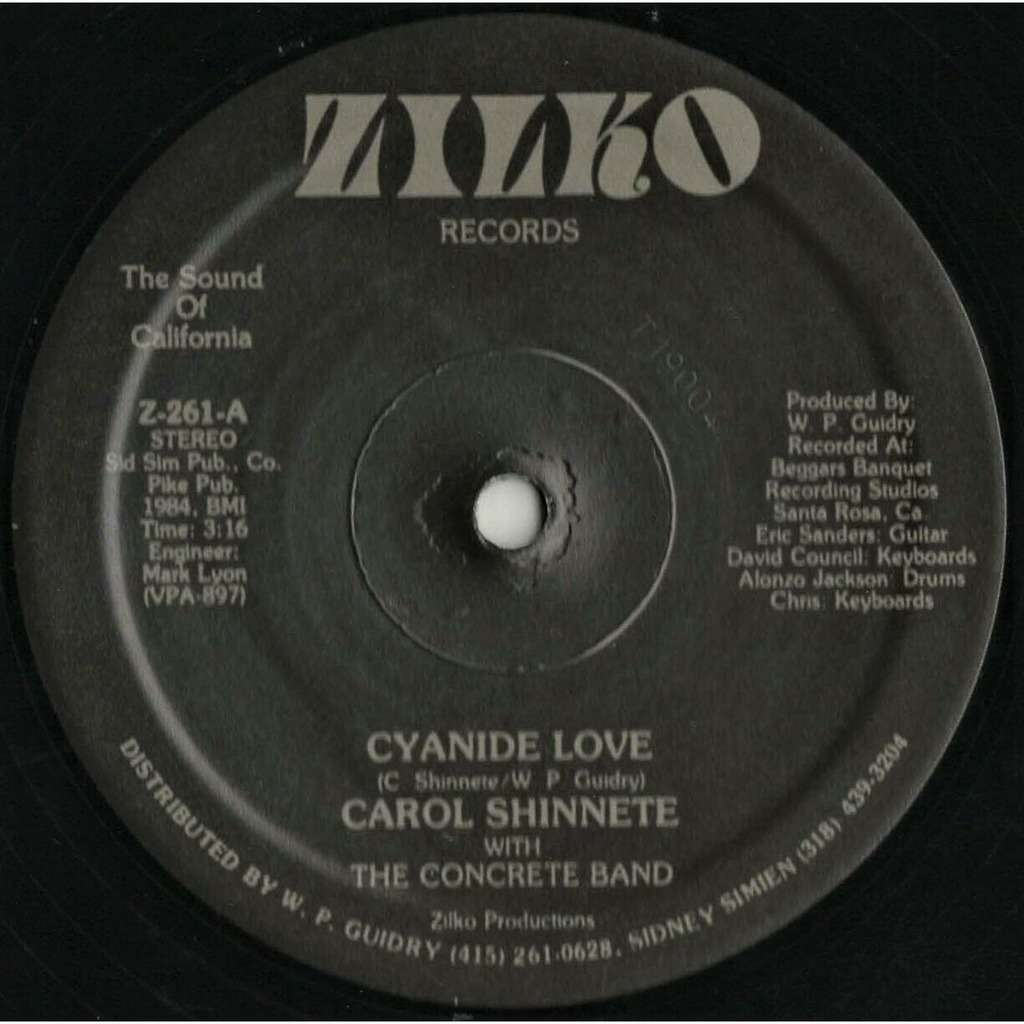 Carol Shinnete With The Concrete Band - Cyanide L Carol Shinnete With The Concrete Band - Cyanide Love - 12 INCH