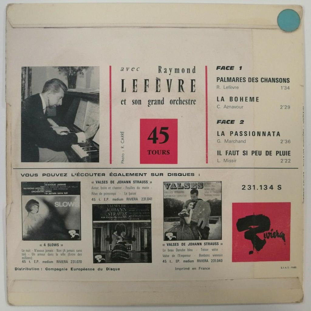 Raymond Lefèvre Palmarès Des Chansons +3