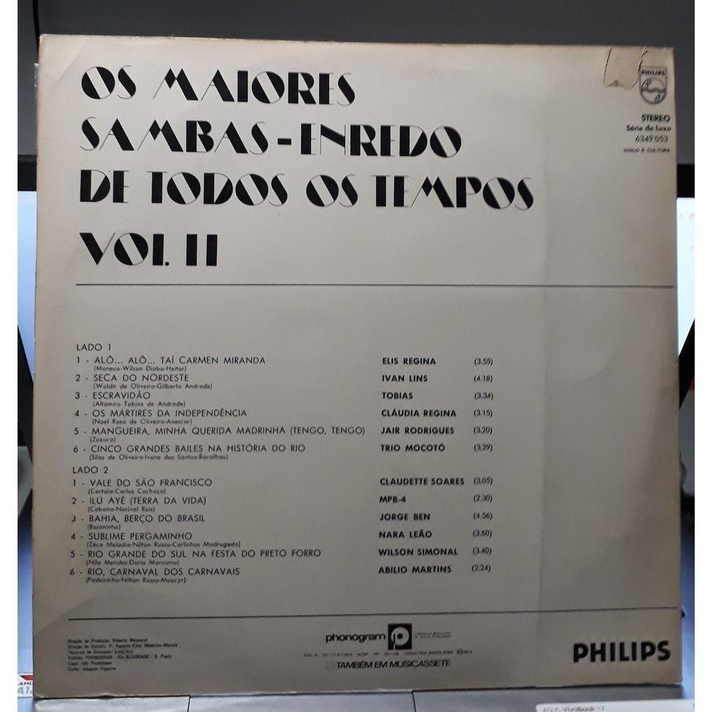 various Os maiores sambas-enredo de todos os tempos vol.2