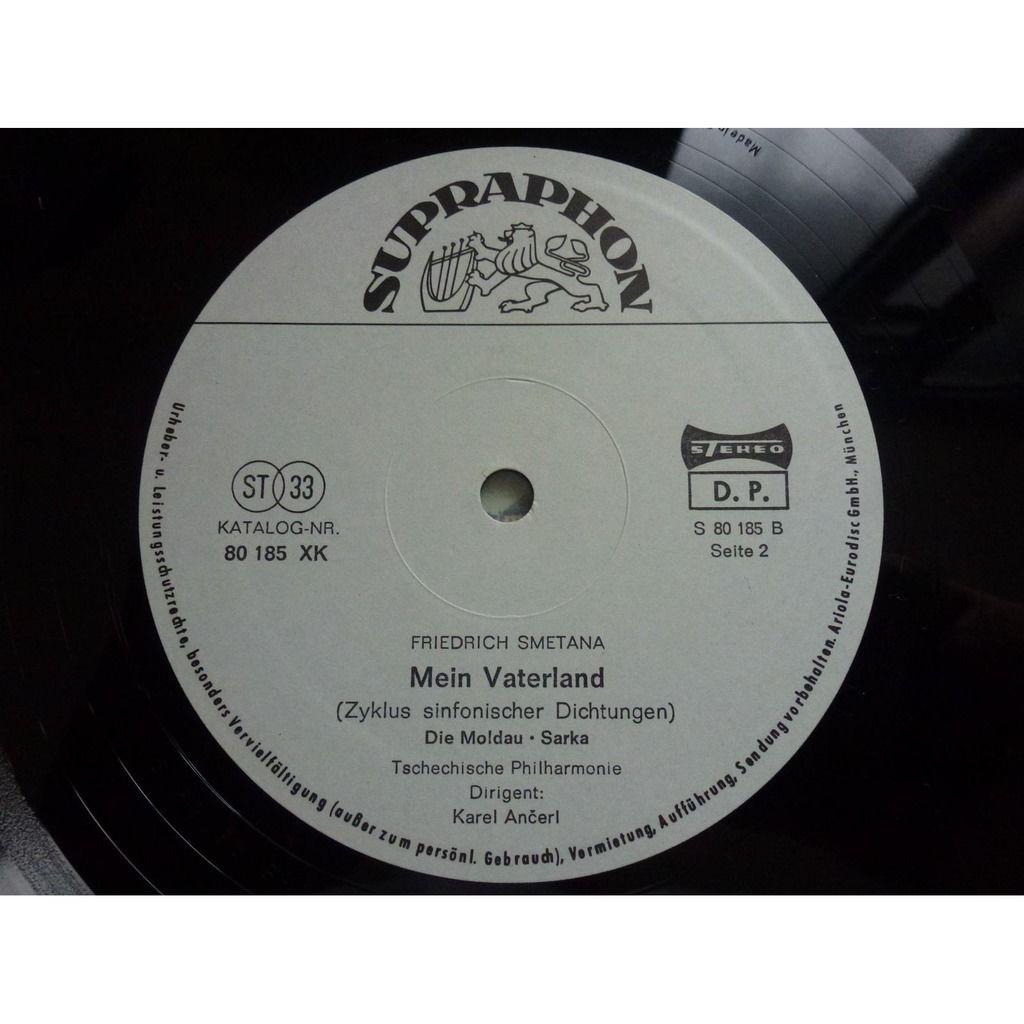 Karel Ancerl - The Czech Philharmonic Orchestra Smetana : Mein Vaterland - ( double lp 12 stéréo mint condition )
