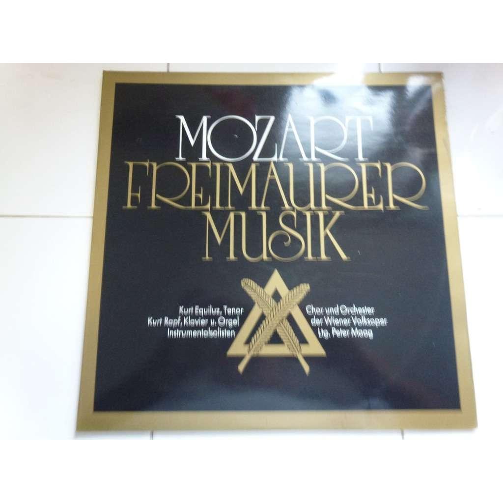 Mozart - peter maag, wiener volksoper Die complete Freimaurermusik - ( double lp 12 stéréo mint condition )
