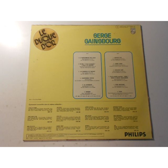 serge gainsbourg le disque d or
