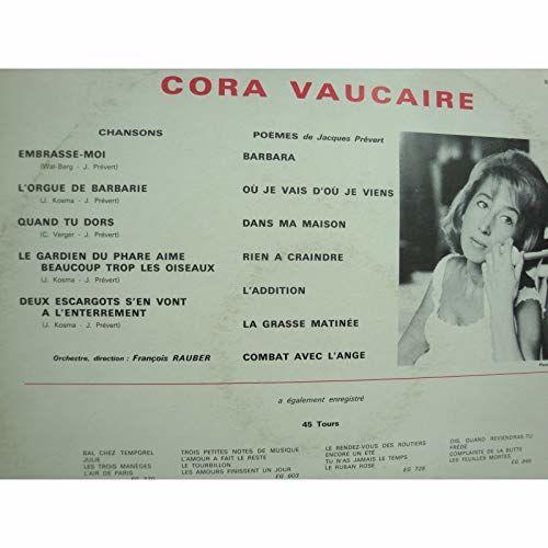 cora vaucaire Chansons et poèmes de Prévert