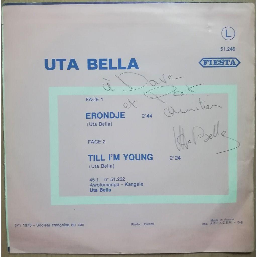 uta bella erondje / till I´m yours
