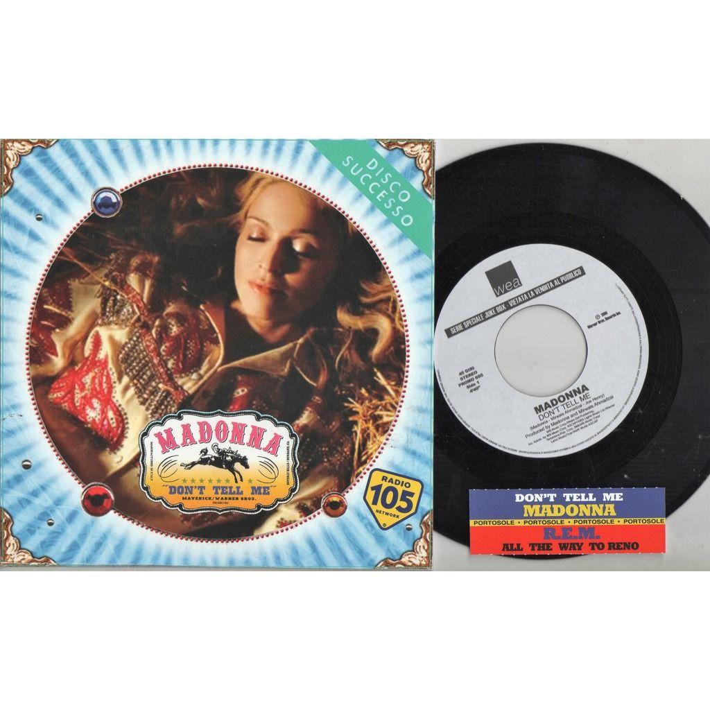 rem: r.e.m. All The Way To Reno (Italian 2001 1-trk w/label promo 7single unique 'SPER' radio network promo ps)