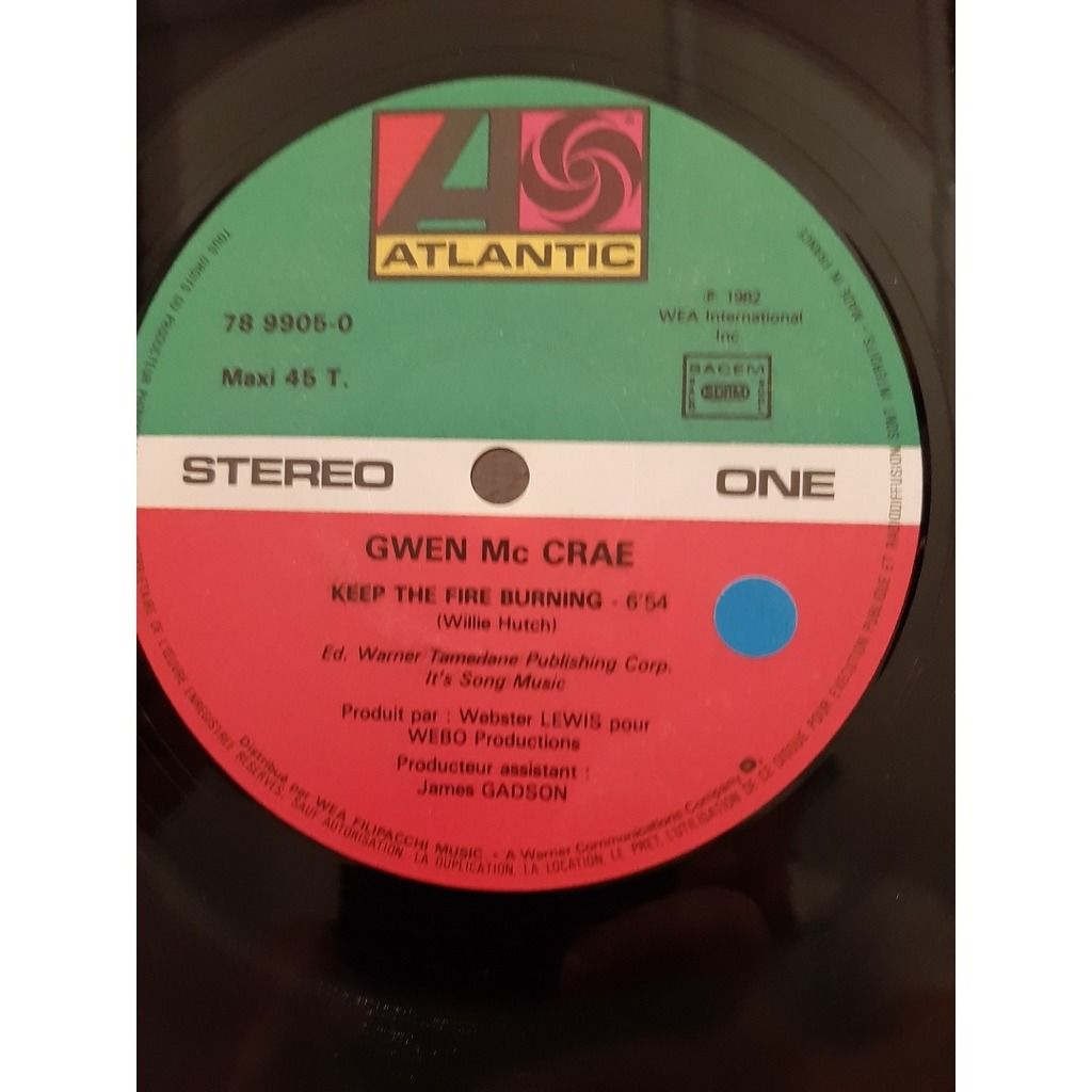 gwen mac crae keep the fire burning with cover  rare