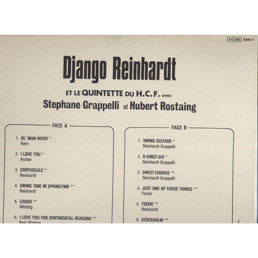 Django Reinhardt Et Le Quintette du H. C. F. Django Reinhardt ( Avec Stephane Grappelli Et Hubert Rostaing )