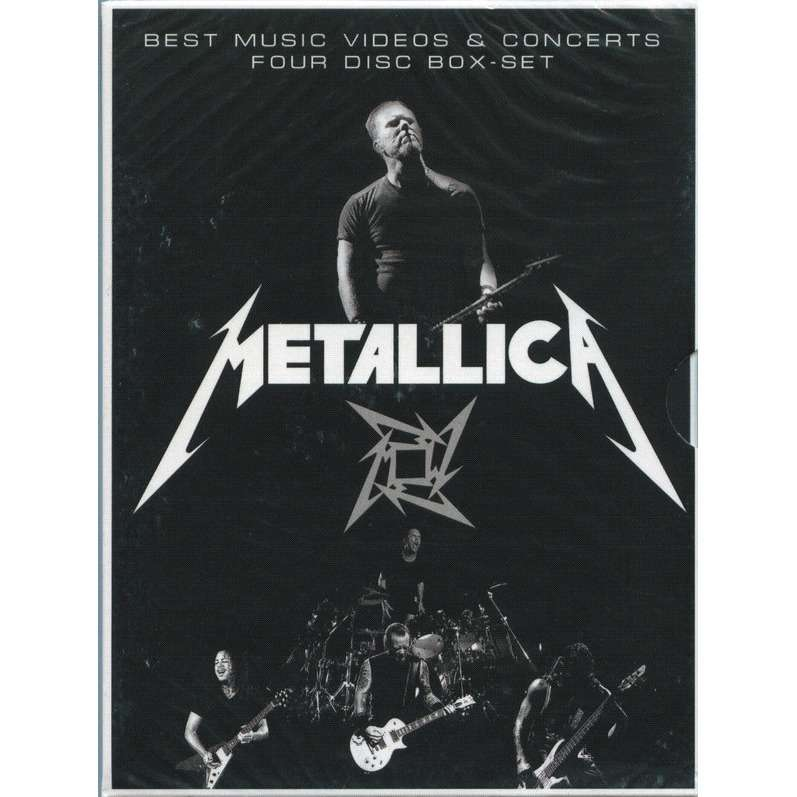 Metallica Best Music Videos & Concerts 4DVD Box set (Digipak in slipcase)