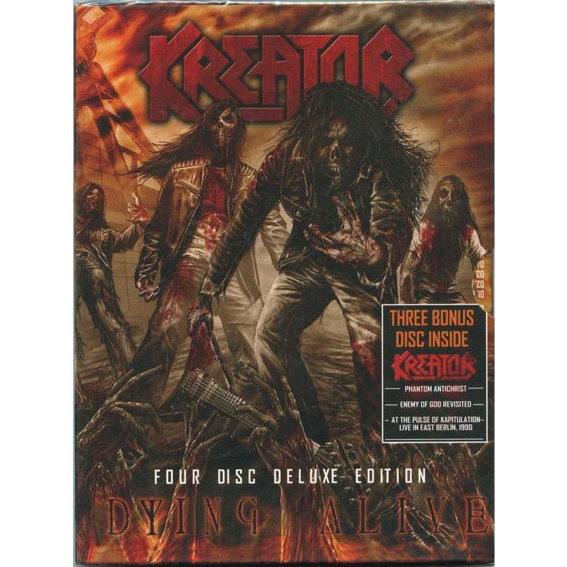 Kreator Dying Alive Four Disc Deluxe Edition 4DVD Digipak in slipcase