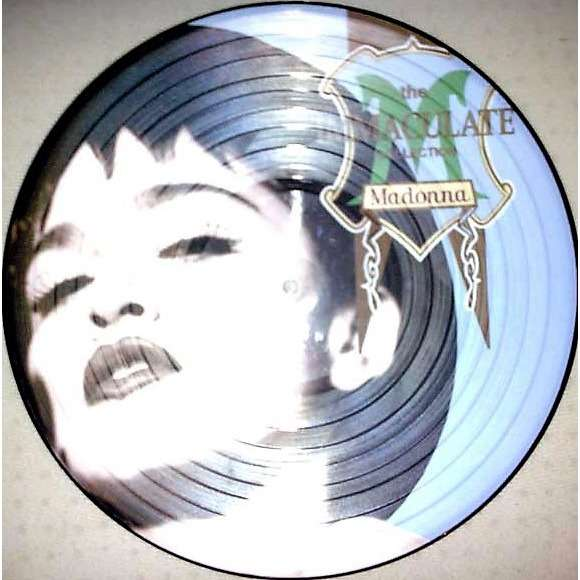 Madonna The Immaculate Collection (UK 1990 Ltd re 15-trk LP Picture Disc on Sire lbl PVC slv!)