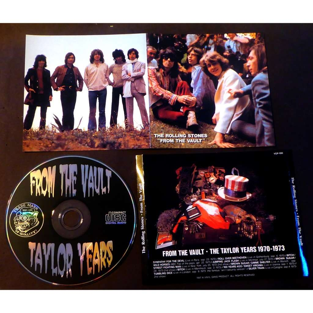 the rolling stones THE TAYLOR YEARS ROLLING STONES FROM THE VAULT LIVE 1970-1973 BOOTLEG VGP 100