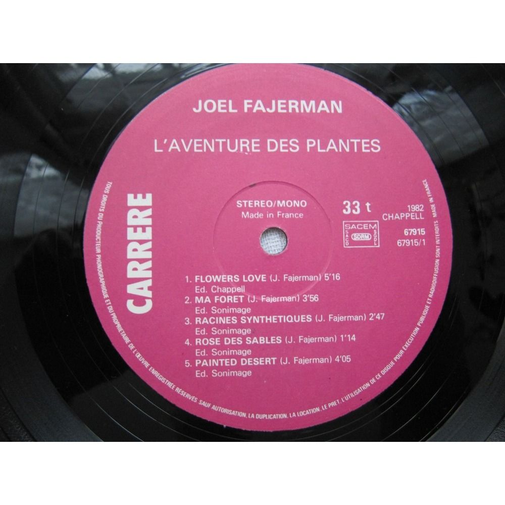 Joël Fajerman L'Aventure Des Plantes