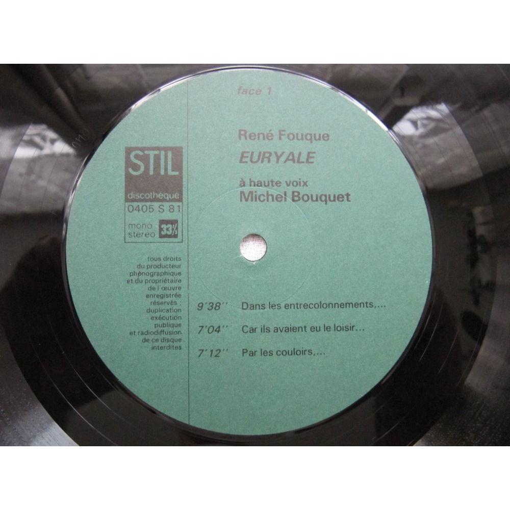 René Fouque / Michel Bouquet EURYALE - A Haute Voix