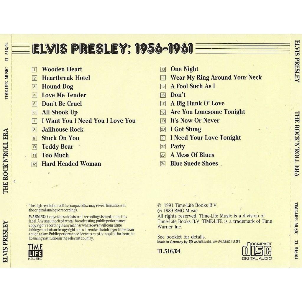 Elvis Presley The Rock 'N' Roll Era - Elvis Presley : 1956-1961