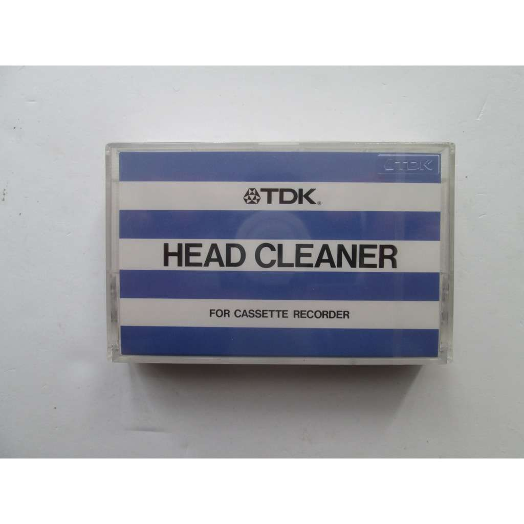 HEAD CLEANER FOR CASSETTE RECORDER TDK CASSETTE DE NETTOYAGE TDK
