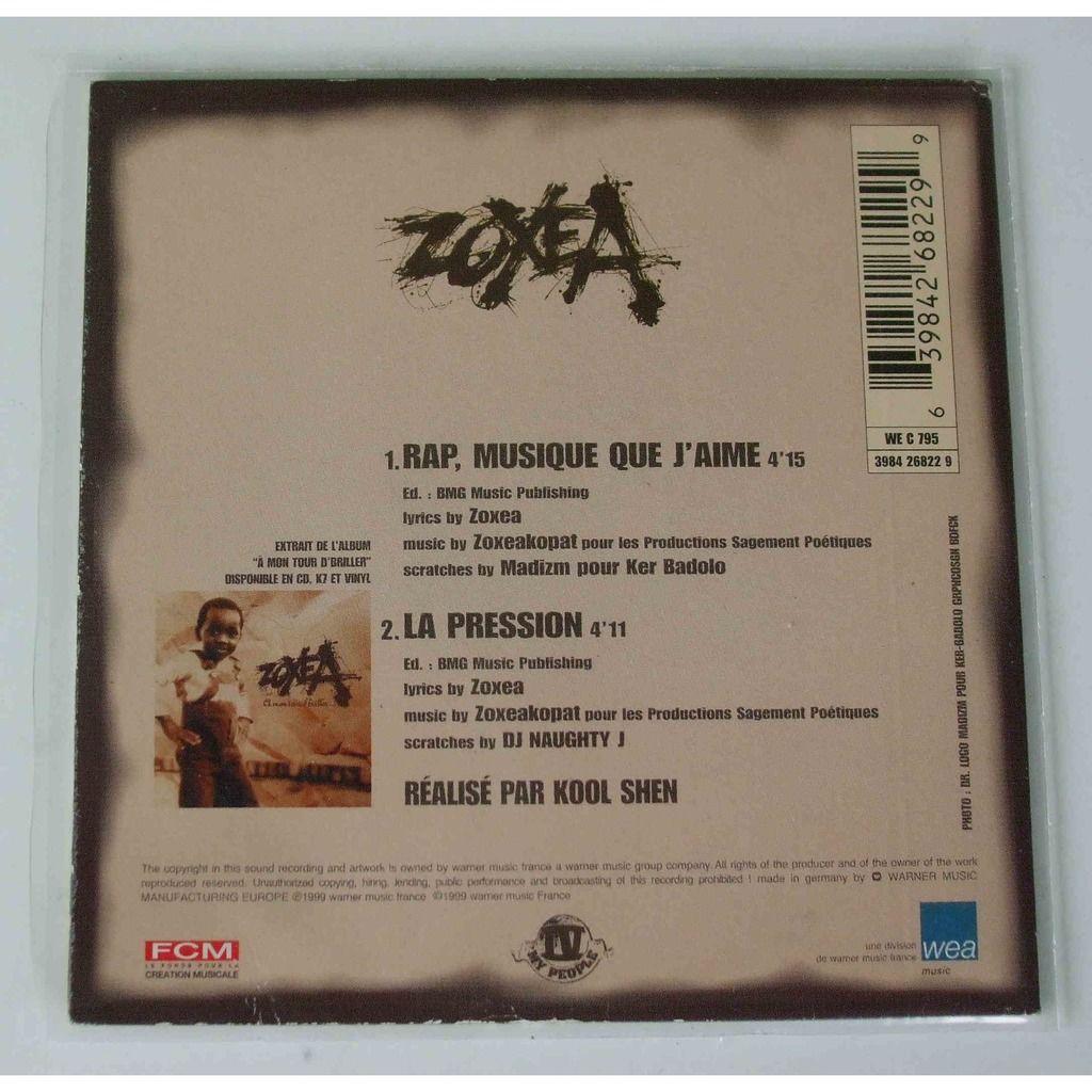 Zoxea Rap, Musique que j'aime