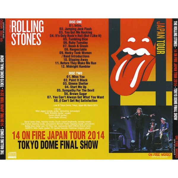 the rolling stones 14 On Fire Japan 2014 Tokyo Final Show