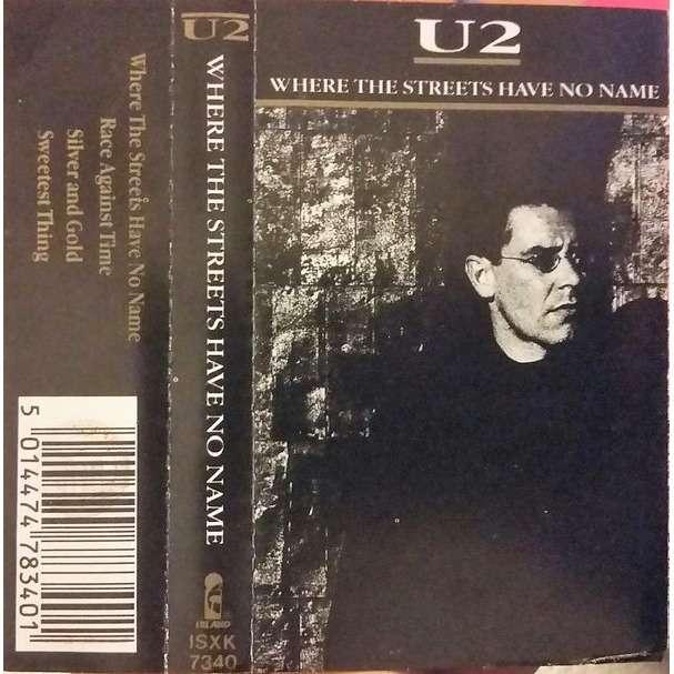 U2 Where The Streets Have No Name (Italian 1987 original Ltd 4-trk Cassette single unique ps)
