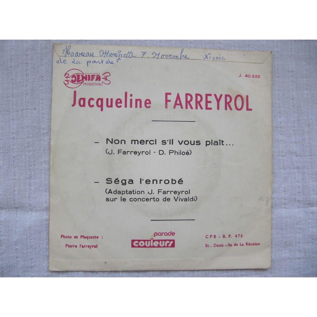 Jacqueline Farreyrol Non Merci S'Il Vous Plaît / Séga L'Enrobé (Adaptation Sur Le Concerto De Vivaldi)
