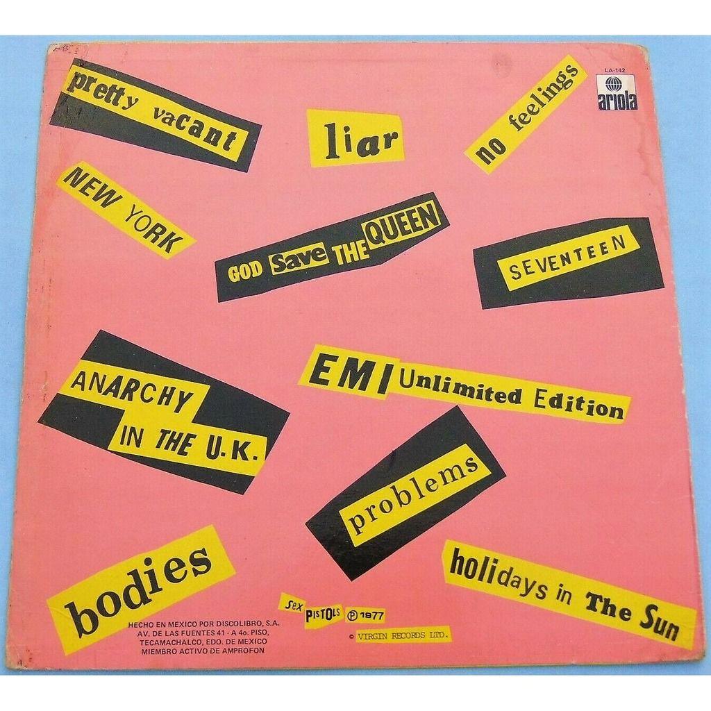 Sex Pistols Never Mind The Bollocks (Mexico 1979 original 12-trk LP on 2Virgin spanish lbl different ps)