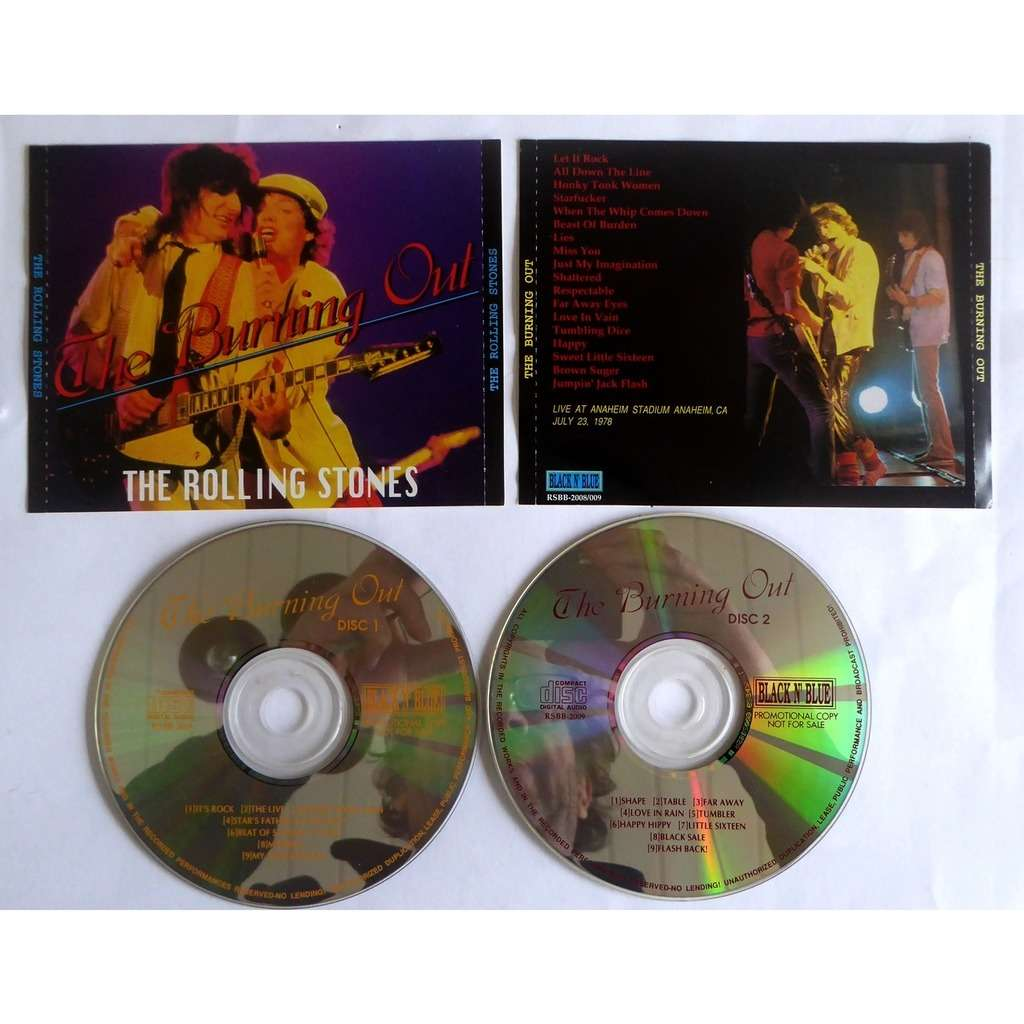 the rolling stones THE BURNING OUT ROLLING STONES LIVE ANAHEIM US TOUR 1978 2CD