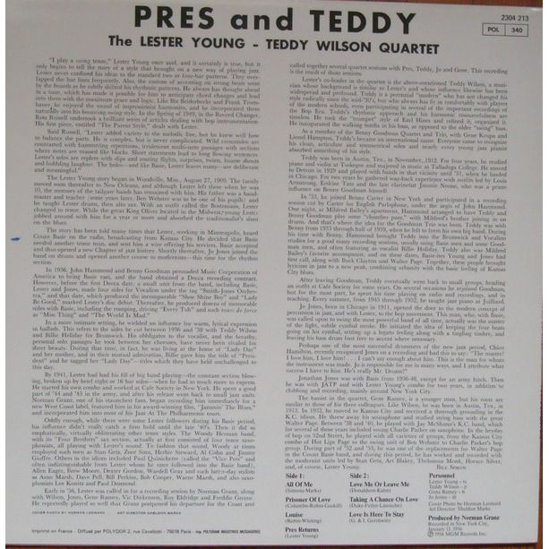 The Lester Young-Teddy Wilson Quartet Pres & Teddy