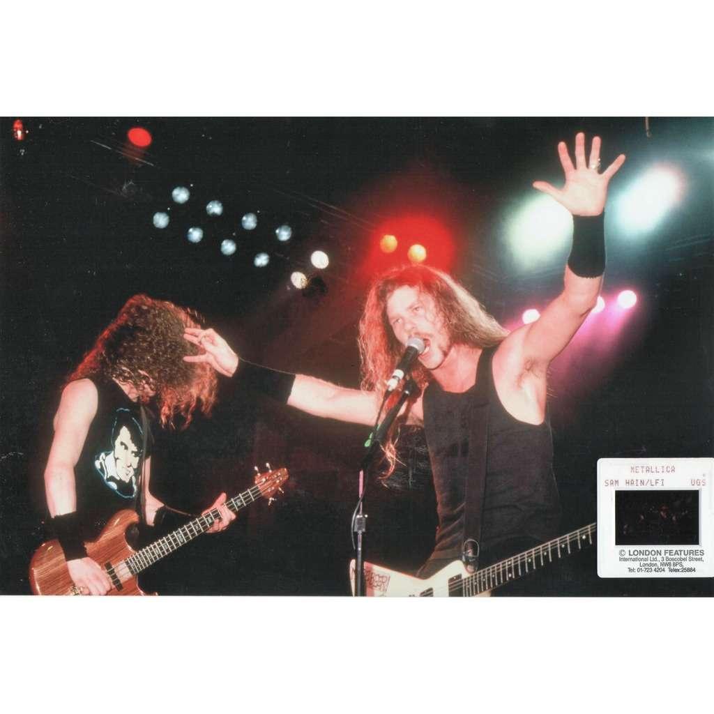 Metallica Metallica (UK 90s original 'London Features' promo Slide & large photo by Sam Hain!)