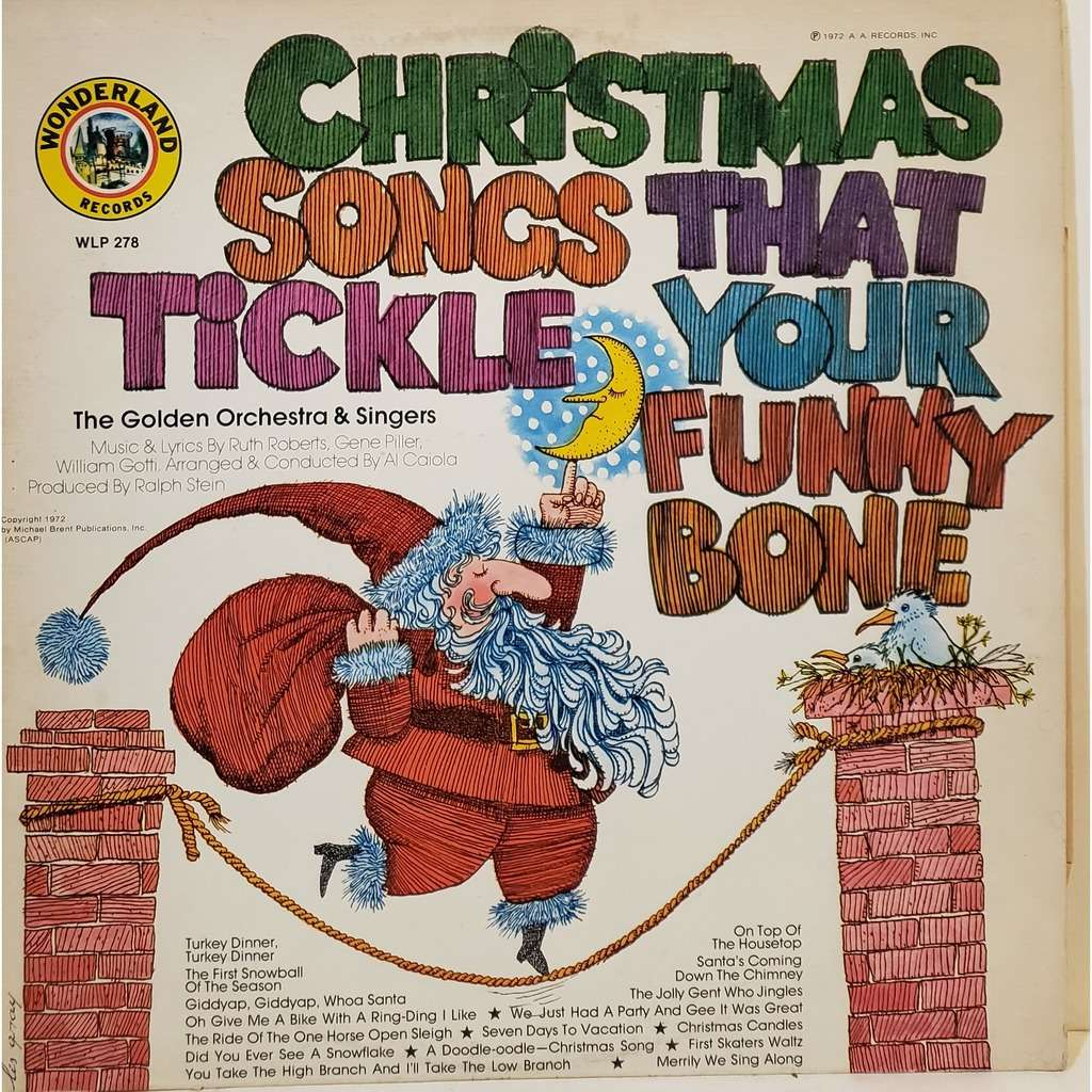 THE GOLDEN ORCHESTRA & SINGERS CHRISTMAS SONGS THAT TICKLE YOUR FUNNY BONE