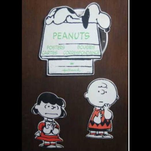 Snoopy Mobile Snoopy Peanuts (Objet Publicitaire Des Années 70) bon état, chacune des trois parties fait en