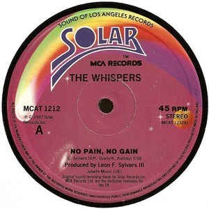 the whispers no pain,no gain