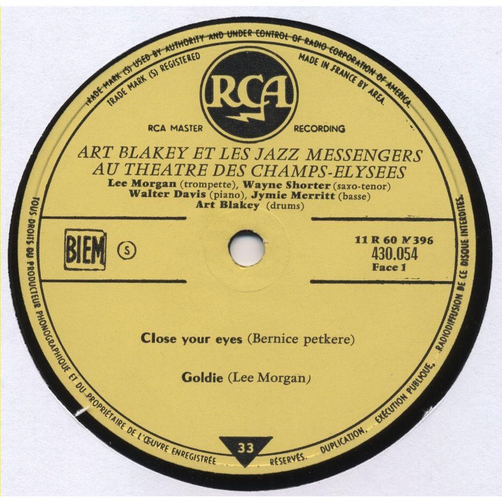 ART BLAKEY et les Jazz Messengers au Théatre des Champs Elysées (live - Paris - 1959) ORIGINAL MONO FRANCE