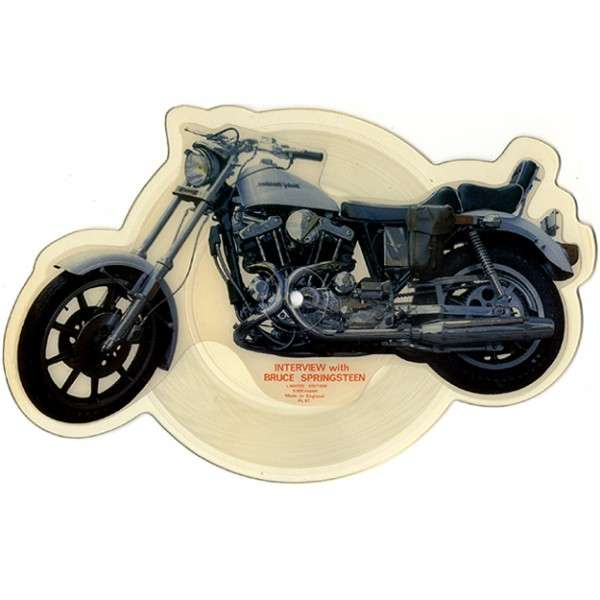 SPRINGSTEEN, Bruce Motorcycle interview (Shaped disc)