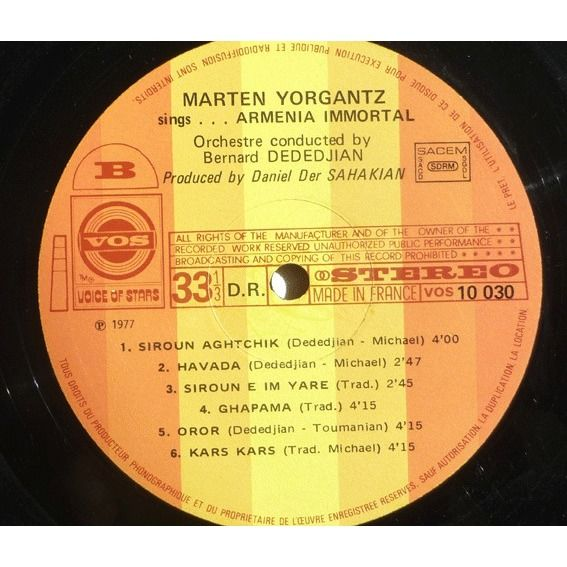 YORGANTZ, Marten Sings Armenia Immortal