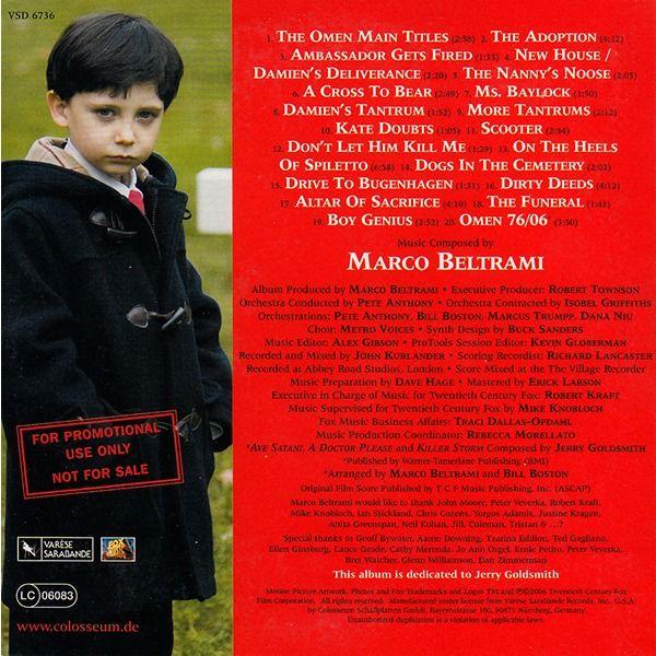 Marco Beltrami The Omen (Original Motion Picture Soundtrack)