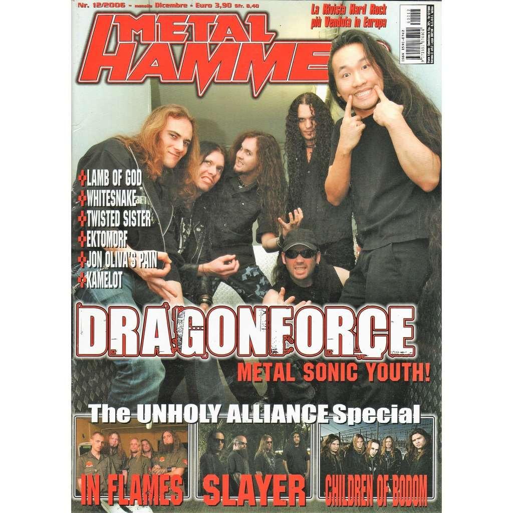 Dragonforce Metal Hammer (N.12 Dec, 2006) (Italian 2006 Dragonforce front cover magazine!)