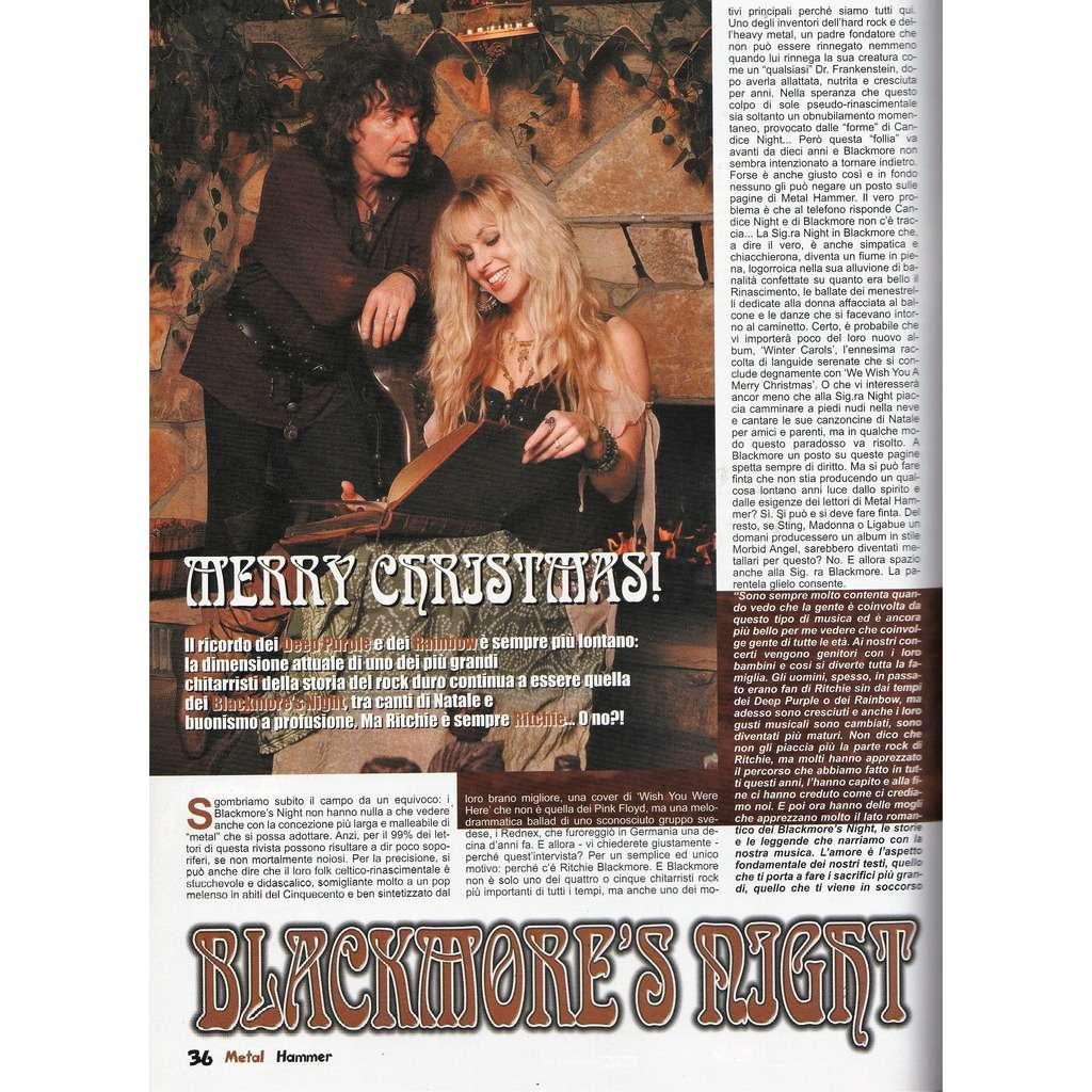 Deep Purple / Blackmore's Night Metal Hammer (N.12 Dec, 2006) (Italian 2006 music magazine!)