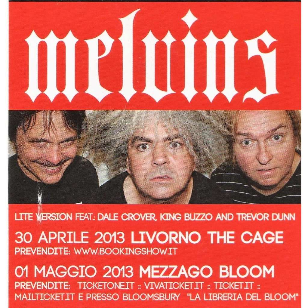 Melvins Italian Tour 2013 (Italian 2013 promo type advert 'Tour dates' concert flyer!)