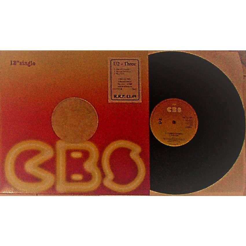 u2 U2 Three (Ireland Ltd 100 copies re 3-trk debut 12EP GREEN Wax on CBS lbl No'd sticker CBS slv!)