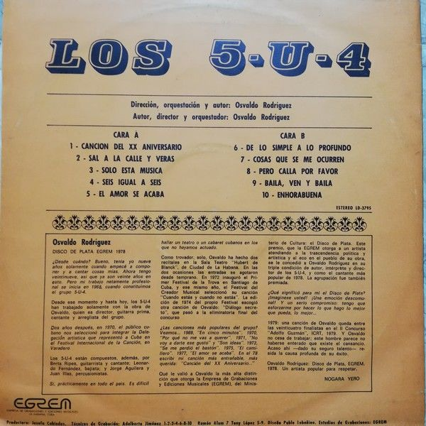 LOS 5-U-4 Osvaldo RODRIGUEZ LOS 5-U-4