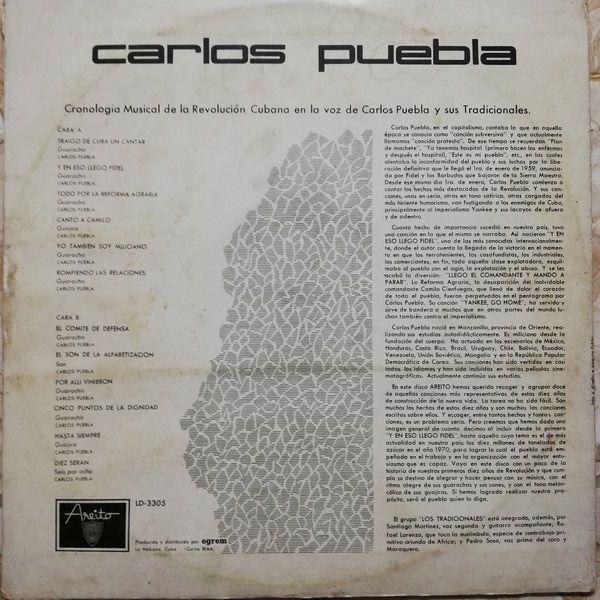 Carlos Puebla CRONOLOGIA MUSICAL DE LA REVOLUCIÓN CUBANA